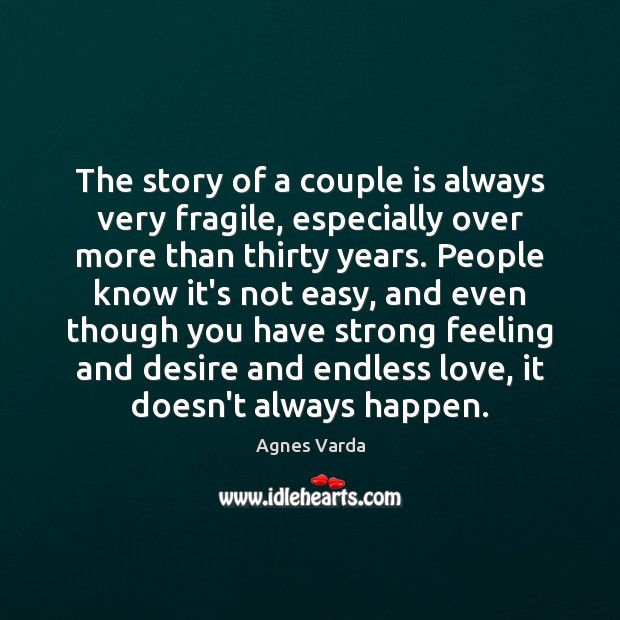 Image, The story of a couple is always very fragile, especially over more
