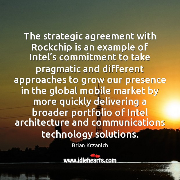 Image, The strategic agreement with Rockchip is an example of Intel's commitment