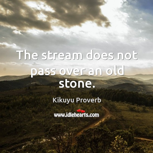 The stream does not pass over an old stone. Image