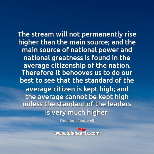 Image, The stream will not permanently rise higher than the main source; and