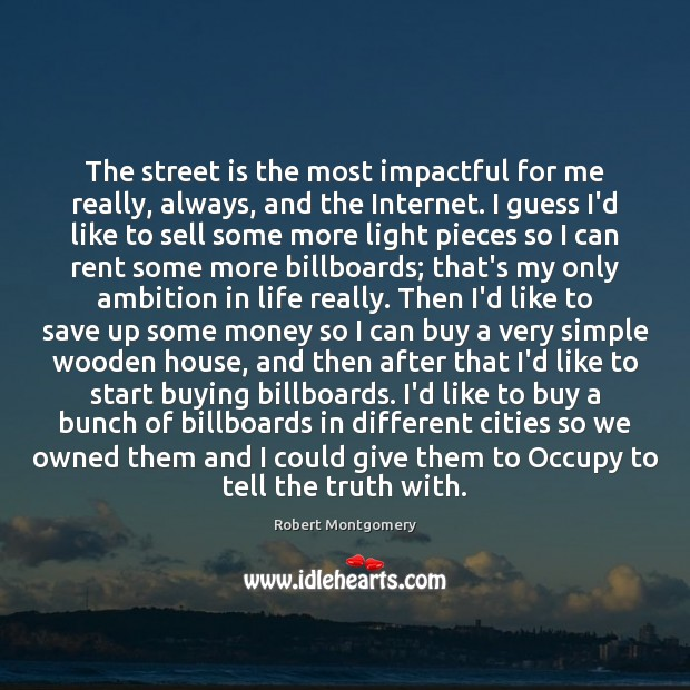 The street is the most impactful for me really, always, and the Image