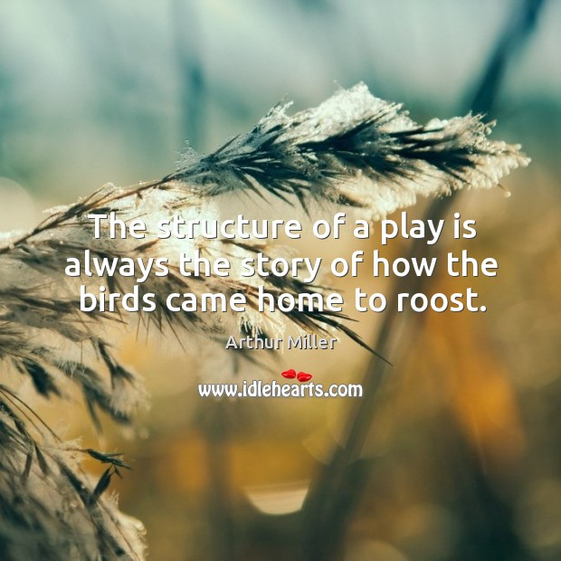 Image, The structure of a play is always the story of how the birds came home to roost.