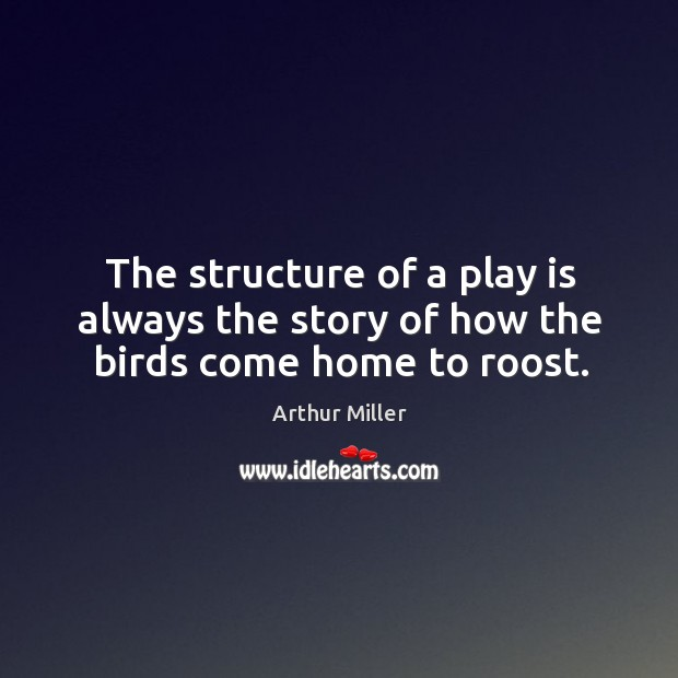 Image, The structure of a play is always the story of how the birds come home to roost.