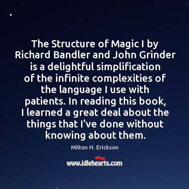 The Structure of Magic I by Richard Bandler and John Grinder is Image