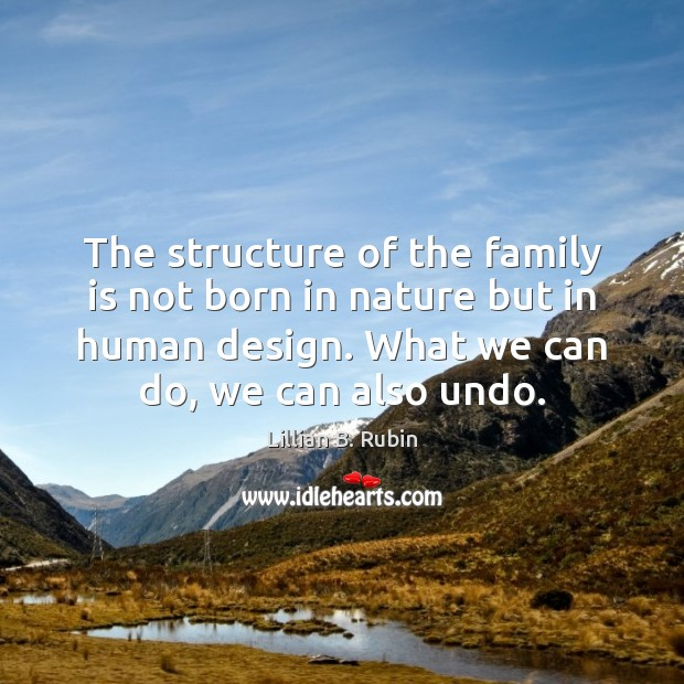 The structure of the family is not born in nature but in Image