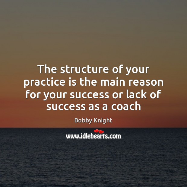 The structure of your practice is the main reason for your success Practice Quotes Image