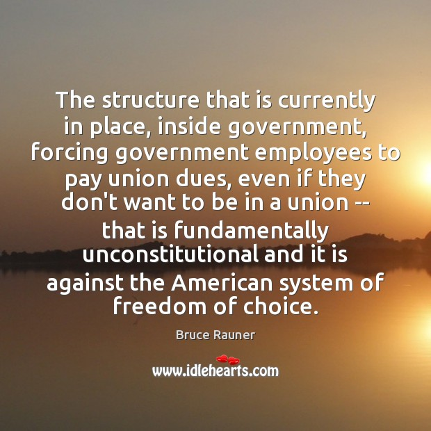 Image, The structure that is currently in place, inside government, forcing government employees