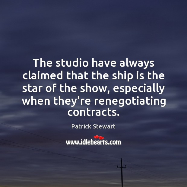 The studio have always claimed that the ship is the star of Image