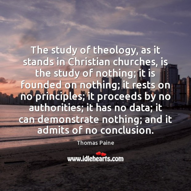 Image, The study of theology, as it stands in Christian churches, is the