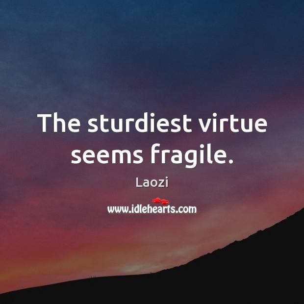 Image, The sturdiest virtue seems fragile.
