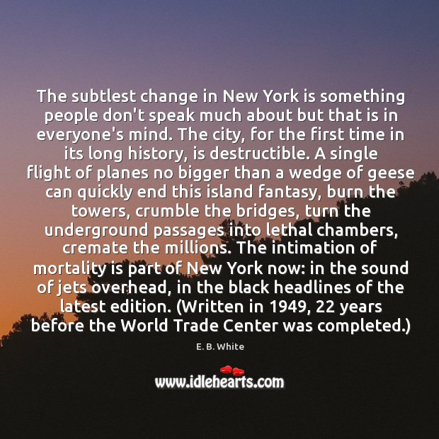 The subtlest change in New York is something people don't speak much Image
