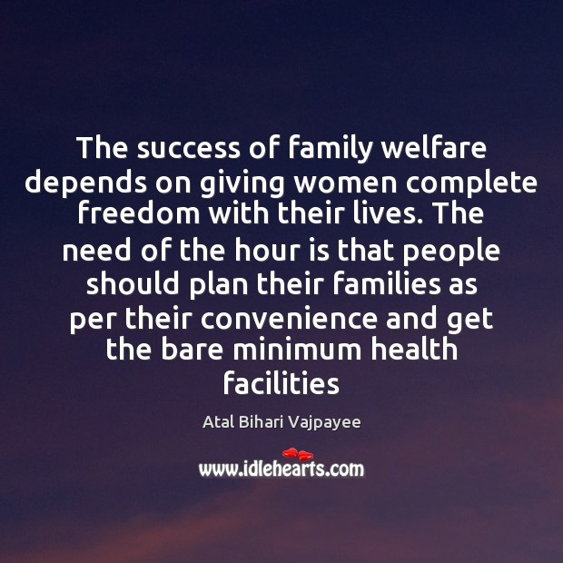 Image, The success of family welfare depends on giving women complete freedom with