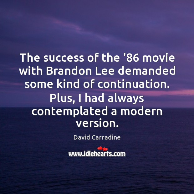 The success of the '86 movie with Brandon Lee demanded some kind Image