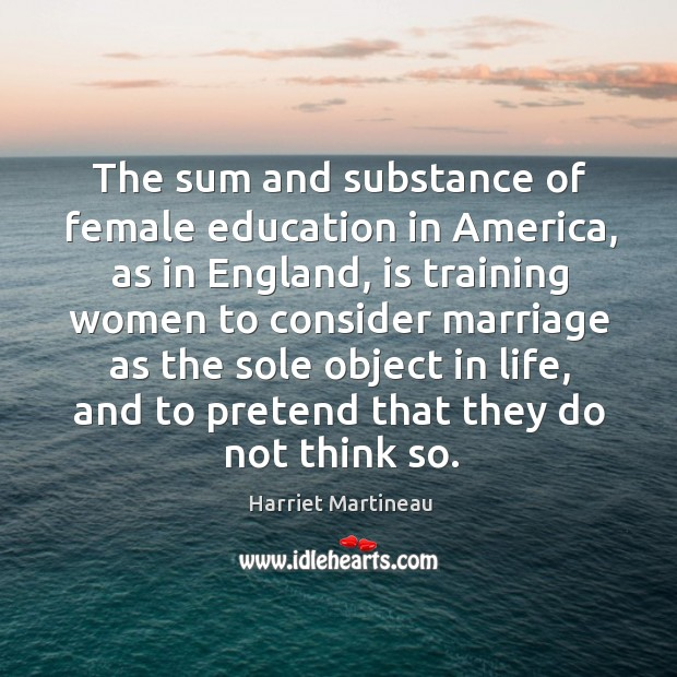 Image, The sum and substance of female education in america, as in england