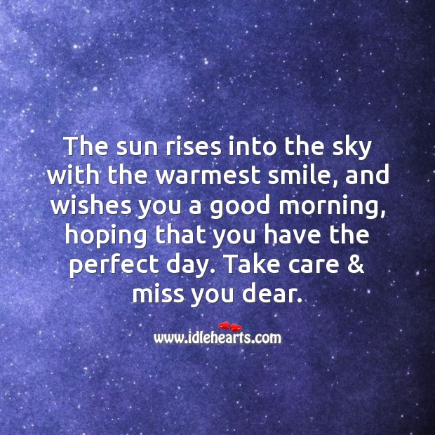 The sun rises into the sky with the warmest smile Image