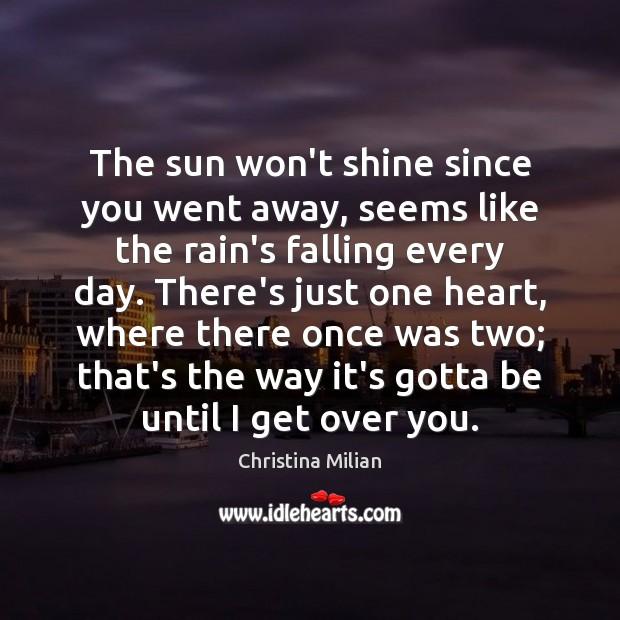 The sun won't shine since you went away, seems like the rain's Image
