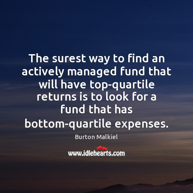 Image, The surest way to find an actively managed fund that will have