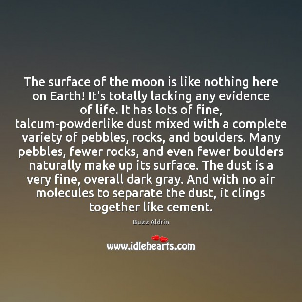 The surface of the moon is like nothing here on Earth! It's Image