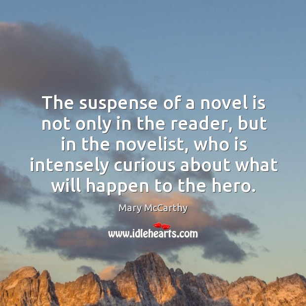 Image, The suspense of a novel is not only in the reader, but in the novelist