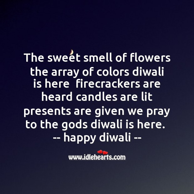 The sweet smell of flowers Diwali Messages Image