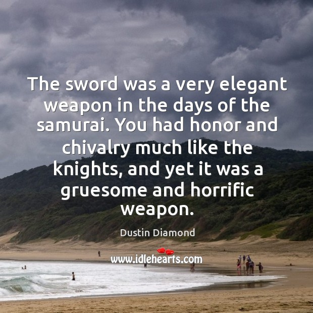 The sword was a very elegant weapon in the days of the samurai. Image