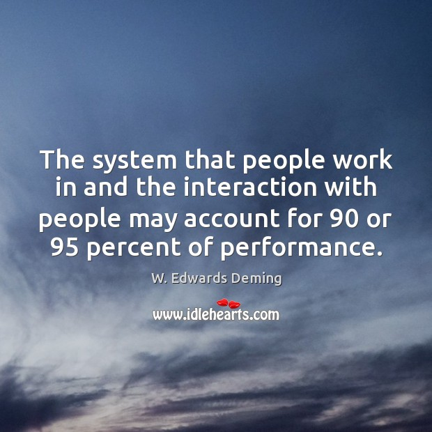 The system that people work in and the interaction with people may Image