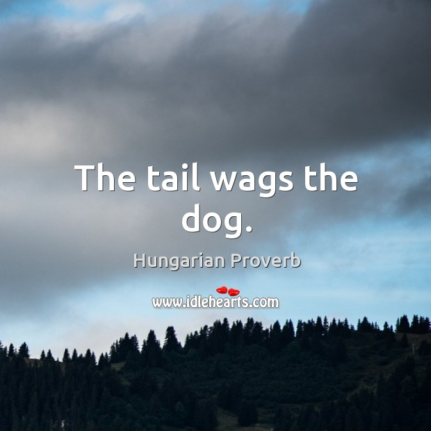 The tail wags the dog. Image