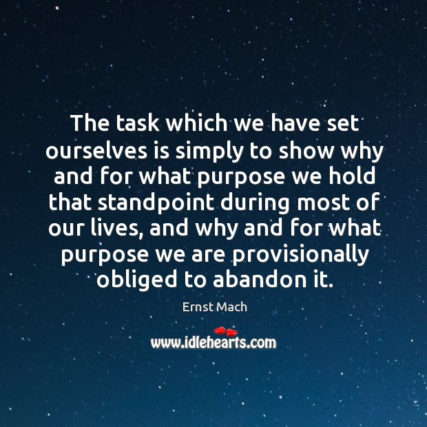 The task which we have set ourselves is simply to show why and for what purpose Image