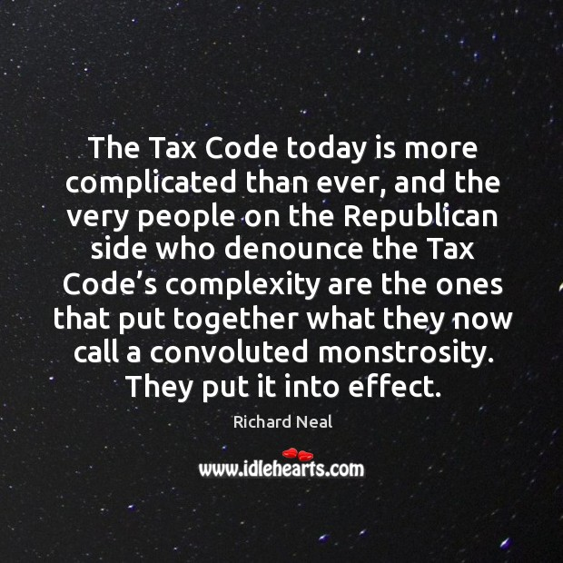 The tax code today is more complicated than ever Image