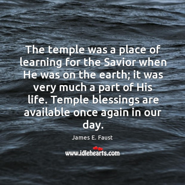 Image, The temple was a place of learning for the Savior when He