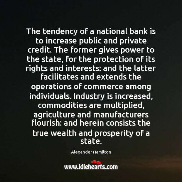 Image, The tendency of a national bank is to increase public and private