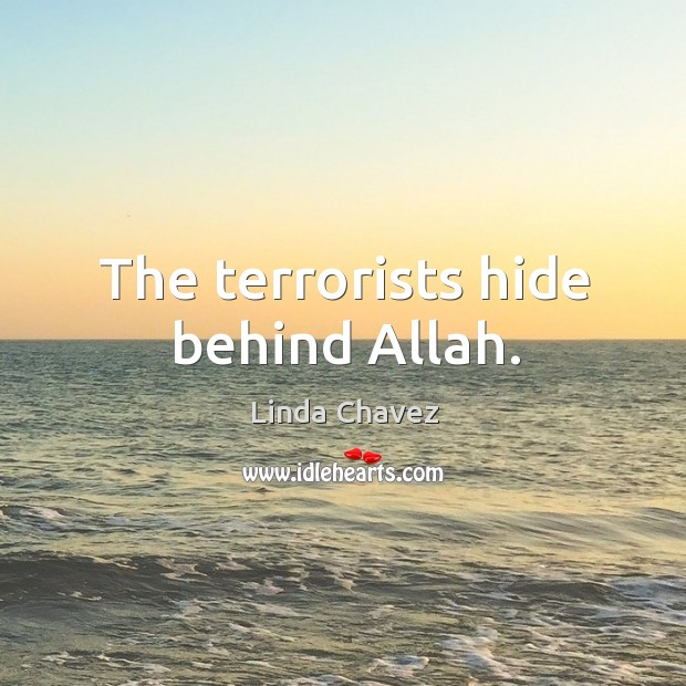 The terrorists hide behind allah. Image