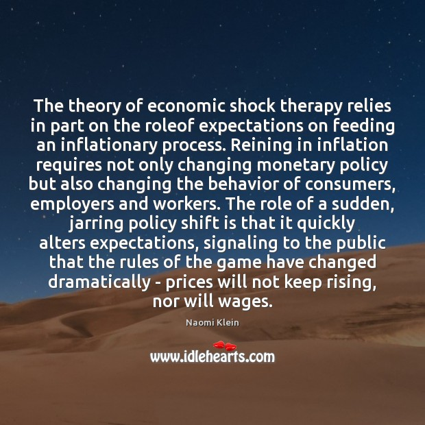 Image, The theory of economic shock therapy relies in part on the roleof