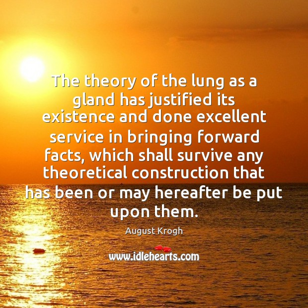 Image, The theory of the lung as a gland has justified its existence