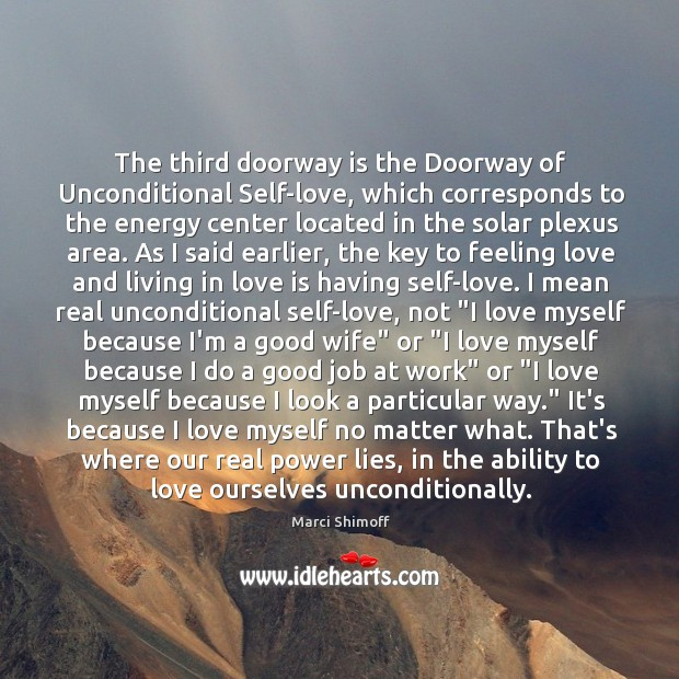 Image, The third doorway is the Doorway of Unconditional Self-love, which corresponds to