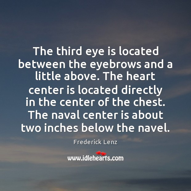 Image, The third eye is located between the eyebrows and a little above.