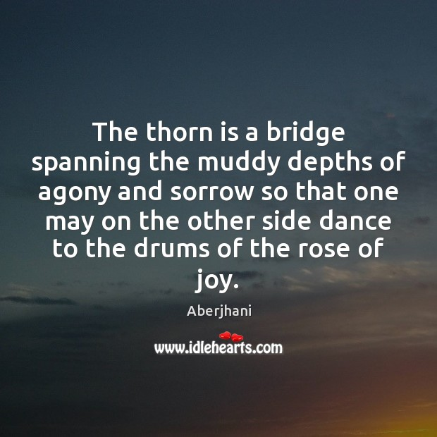 Image, The thorn is a bridge spanning the muddy depths of agony and