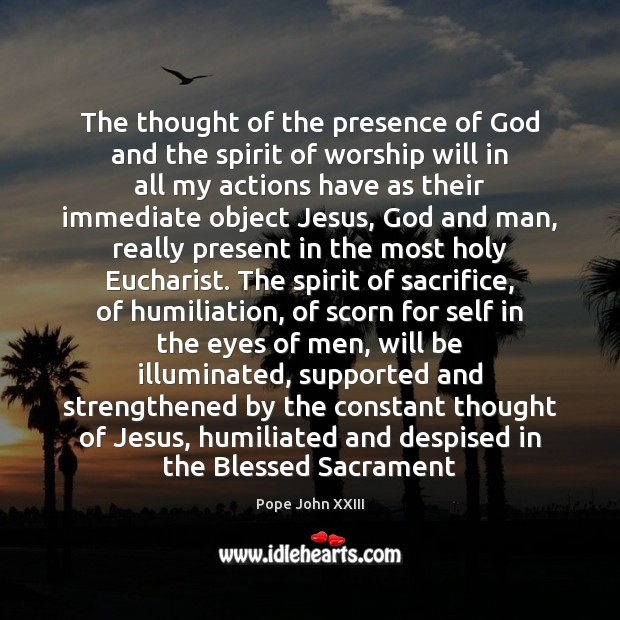 The thought of the presence of God and the spirit of worship Image