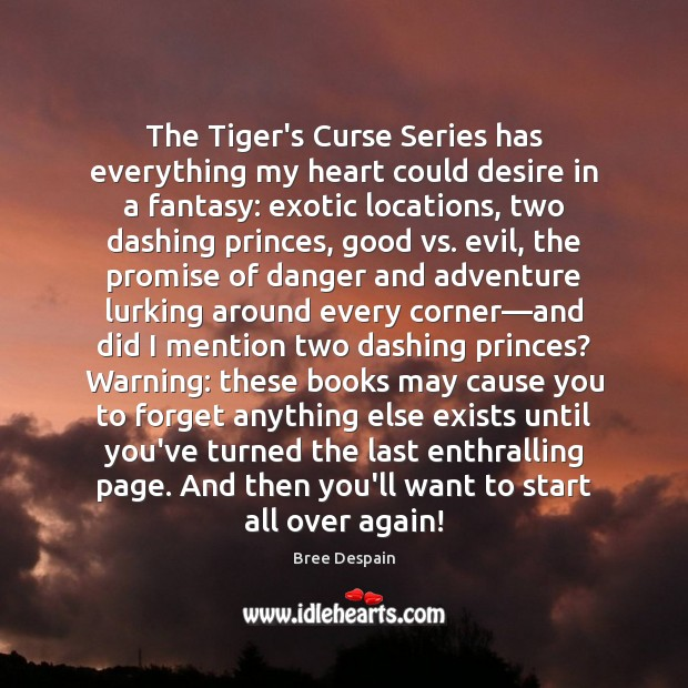 The Tiger's Curse Series has everything my heart could desire in a Image