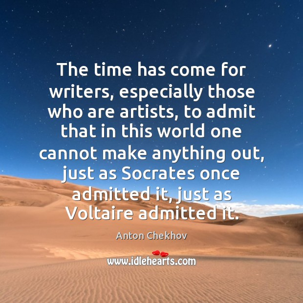 Image, The time has come for writers, especially those who are artists, to
