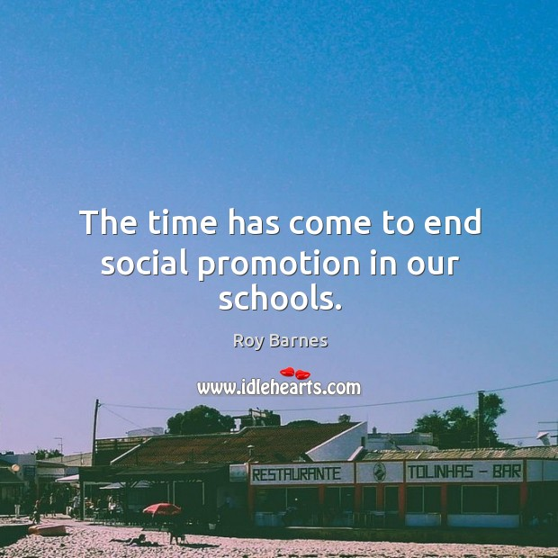 The time has come to end social promotion in our schools. Image