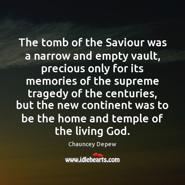 The tomb of the Saviour was a narrow and empty vault, precious Image