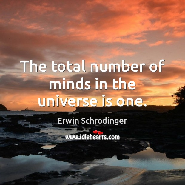 Image, The total number of minds in the universe is one.