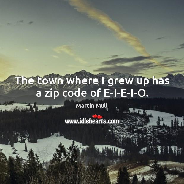 Image, The town where I grew up has a zip code of E-I-E-I-O.