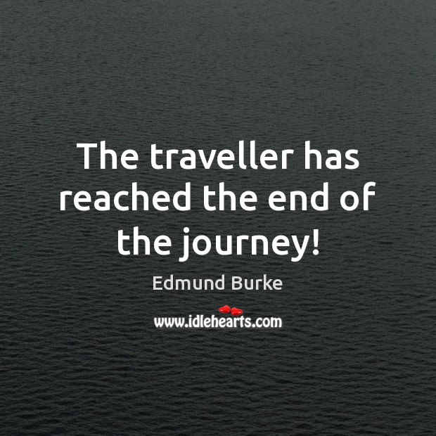 Image, The traveller has reached the end of the journey!