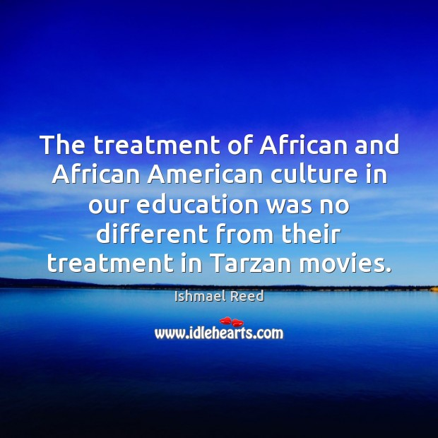Image, The treatment of African and African American culture in our education was