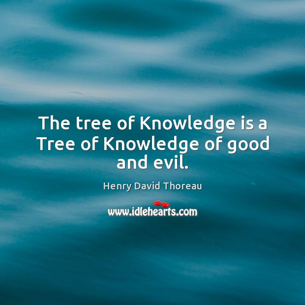 The tree of Knowledge is a Tree of Knowledge of good and evil. Image