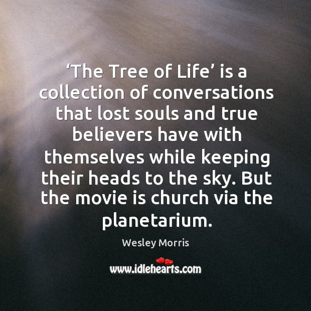 'the tree of life' is a collection of conversations that lost souls and true believers have with themselves Image