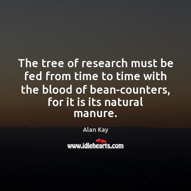 Image, The tree of research must be fed from time to time with