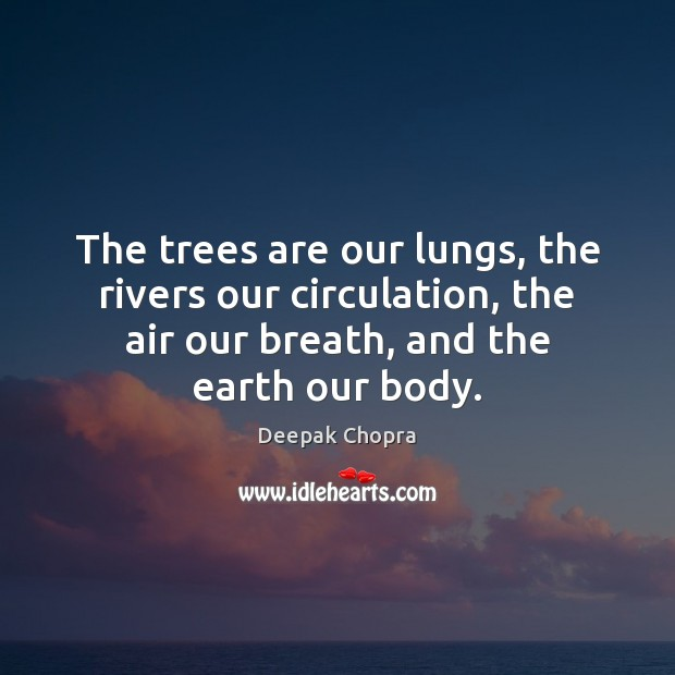 The trees are our lungs, the rivers our circulation, the air our Image